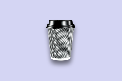 8oz Black Rippled Textured Double-Wall Paper Cups