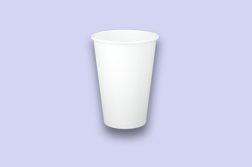 16oz White Single-Wall Paper Cups