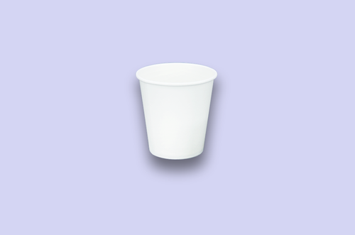8oz White Single-Wall Paper Cups