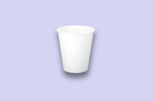 10oz White Single-Wall Paper Cups