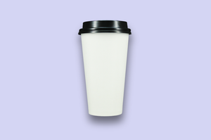 20oz White Single-Wall Paper Cups