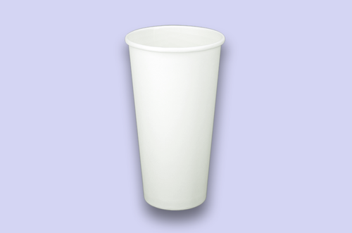 24oz White Single-Wall Paper Cups