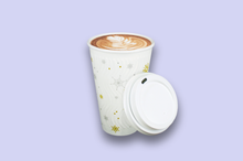 Load image into Gallery viewer, 16oz Winter Themed Rippled Double-Wall Paper Cups