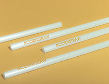 Load image into Gallery viewer, Cornstraw™ Jumbo PLA Straws with #CORNSTRAW Print