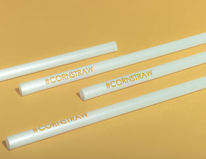 Cornstraw™ Jumbo PLA Straws with #CORNSTRAW Print