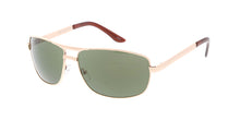 2076MH Unisex Metal Medium Square Aviator