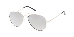 2919MIR/MH Unisex Metal Standard Silver Aviator w/ Silver Mirror Lens (Single Color)