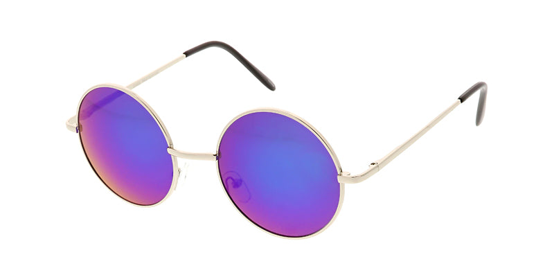 3486RV/MH Unisex Metal Classic Midsize Round Frame w/ Color Mirror Lens