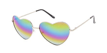 3577HRT/RV Women's Metal Large Wire Heart w/ Rainbow Mirror Lens