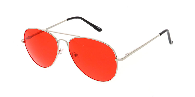 3584COL/MH Unisex Standard Metal Aviator Spring Temples w/ Color Lens
