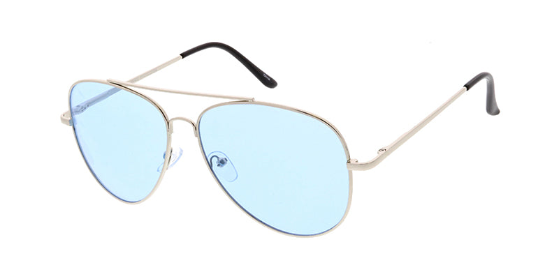 3585COL/MH Unisex Large Metal Aviator Spring Temples w/ Color Lens