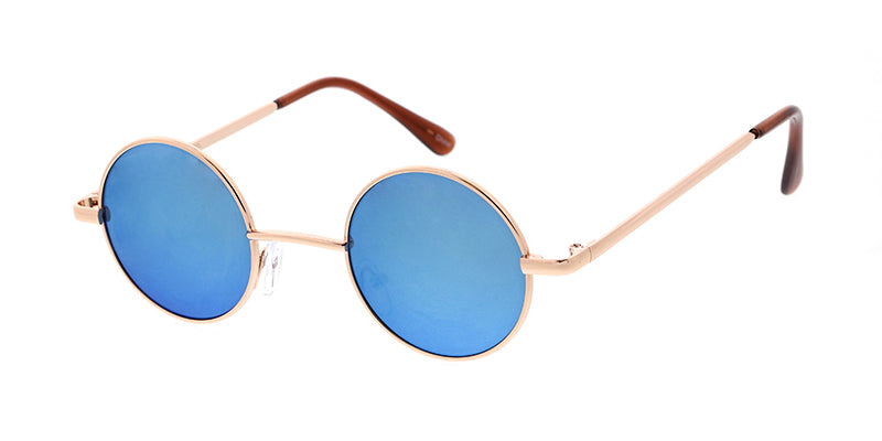 3611RV Unisex Metal Classic Small Round Lennon Frame w/ Color Mirror Lens