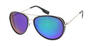 3629RV Men's Metal Casual Combo Medium Aviator w/ Color Mirror Lens