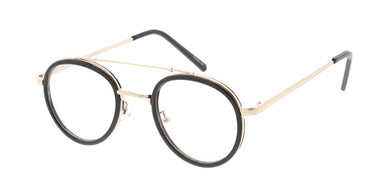3669CLR Unisex Combo Small Round Vintage Inspired Hipster Frame w/ Clear Lens
