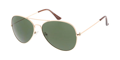 3688 Unisex Metal Standard Aviator w/ Grey-Green Lens