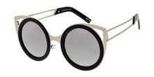 3823MIR Women's Combo Large Round Lens Cat Eye Frame w/ Mirrored Lens