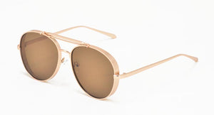 3826 Unisex Metal Large Thick Aviator