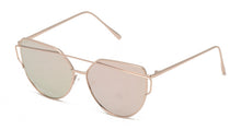 4113RV Women's Metal Wire Brow Frame w/ Color Mirror Lens