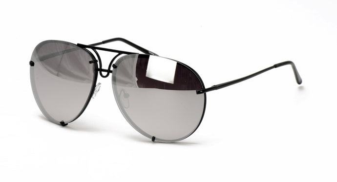 4164RV Unisex Retro Metal Aviator w/ Color Mirror Lens