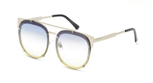 4186COL Women's Metal Large Flat Brow Rimless Frame w/ Two Tone Lens