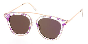 4194RV Women's Combo Medium Top Brow Printed Frame w/ Color Mirror Lens