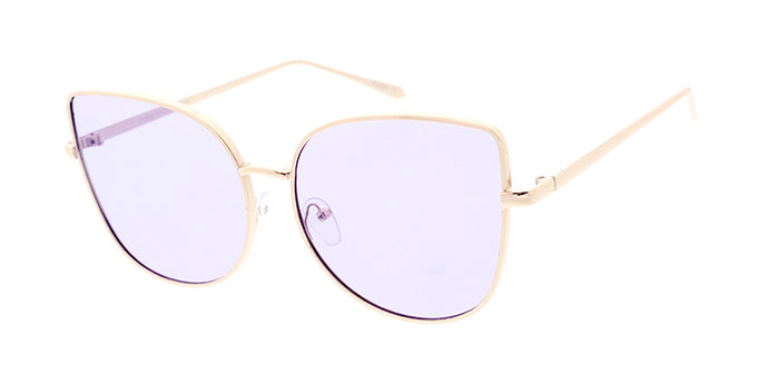 4240COL Women's Metal Large Square Cat Eye Frame w/ Color Lens