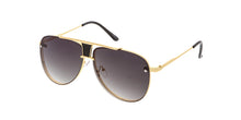 4281 Unisex Large Metal Rimless Aviator
