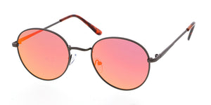 4318REV Unisex Classic Metal Round Frame w/ Spectrum Color Mirror Lens