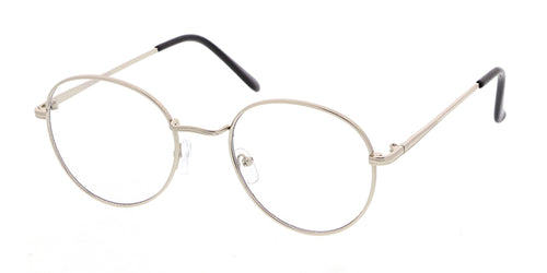 4319CLR Unisex Classic Metal Round Frame w/ Clear Lens