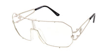 4322CLR Unisex Retro Metal Shield Blue Light Filtering Clear Lens Computer Glasses
