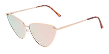 4324REV Women's Metal Cat Eye w/ Spectrum Color Mirror Lens