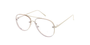 4426CLR Unisex Metal Aviator Clear Lens
