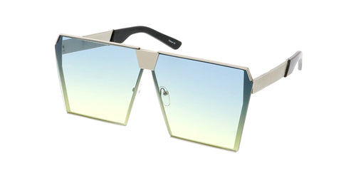 4479COL Unisex Metal Oversize Square Frame w/ Two Tone Lens
