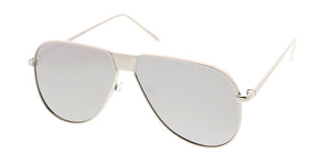 4481REV Unisex Metal Large Single Bridge Aviator Frame w/ Color Spectrum Mirror Lens