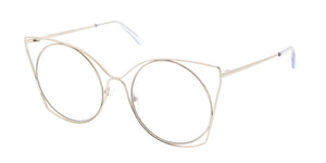 4485CLR Women's Metal Wire Cat w/ Clear Lens