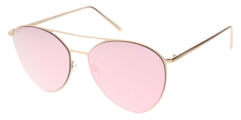 4495RV Women's Metal Large Thin Frame w/ Color Mirror Lens