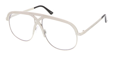 4533CLR Unisex Retro Metal Criss Cross Frame Blue Light Filtering Clear Lens Computer Glasses