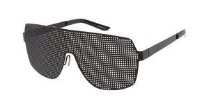 4559 Unisex Perforated Solid Metal Shield
