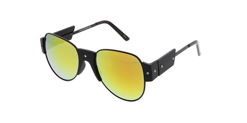 4563RV Unisex Metal Aviator w/ Mirrored Lens