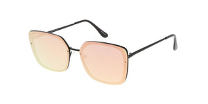 4565REV Women's Metal Square Frame w/ Spectrum Color Mirror Lens