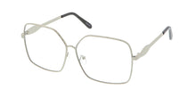 4566CLR Women's Metal Oversized Rectangular Blue Light Filtering Clear Lens Computer Glasses