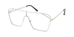4578CLR Unisex Metal Metal Rectangular Shield w/ Clear Lens