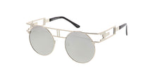 4593RV Unisex Metal Steampunk Frame w/ Color Mirror Lens