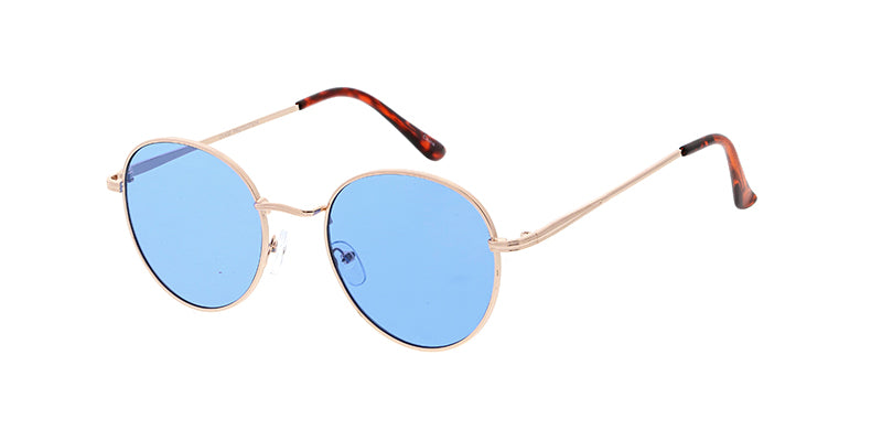 4595COL Unisex Classic Metal Round Frame w/ Color Lens