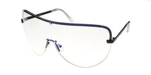 4605CLR Women's Metal Oversize Shield w/ Clear Lens