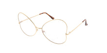 4607CLR Women's Metal Butterfly Clear Lens