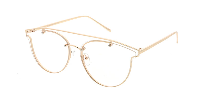 4609CLR Unisex Hipster Metal Rimless Clear Lens