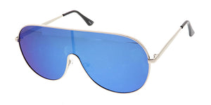 4628RV Unisex Metal Shield Aviator w/ Color Mirror Lens