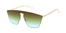 4633COL Women's Futuristic Metal Shield w/ Two Tone Lens