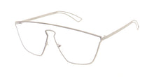 4634CLR Women's Futuristic Metal Shield w/ Clear Lens